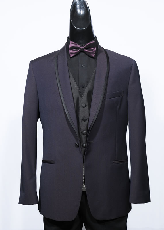 The Plum Shawl - Jean Yves - Slim Fit