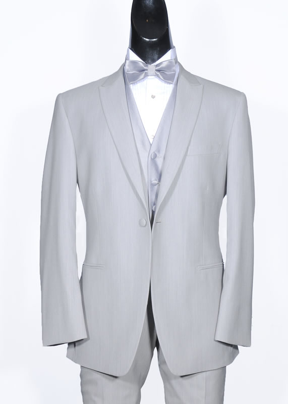 Silver / Gray Wedding Suit - Slim Fit